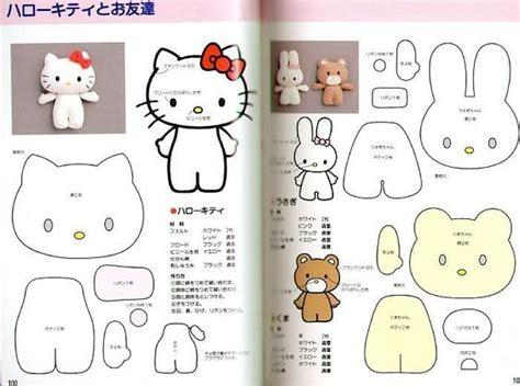 felt pattern hello kitty free hello kitty my melody and cute bear sewing pattern