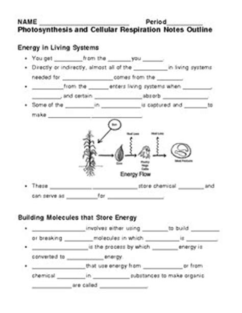 Cellular Respiration Breaking Energy Worksheet Answers by Photosynthesis Cellular Respiration Worksheet Answers