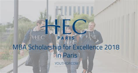 Hec Mba Scholarships by Mba Scholarship For Excellence 2018 In Youth