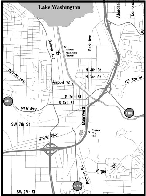seattle map renton city of renton airport directions