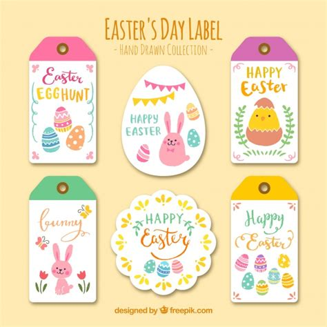 printable egg stickers collection of easter day stickers and labels vector free