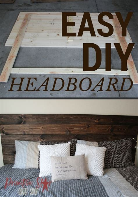 diy how to make your own wood headboard in 2019 diy