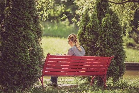 red park bench people free stock photos negativespace