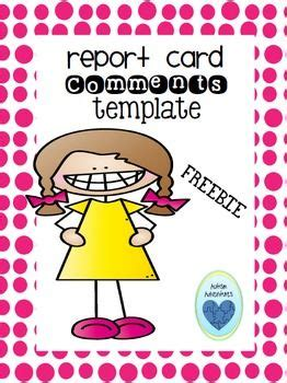cbe report card template report card comment template report cards