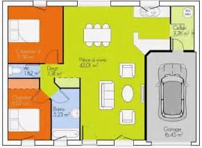 plan de plain pied avec 4 chambres plans pour