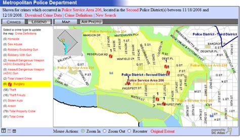 washington dc psa map mapping crime the georgetown metropolitan