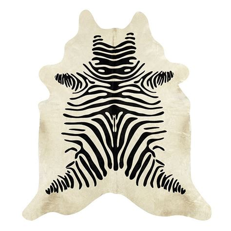 zebra cowhide rug cowhide rug stenciled black and white zebra