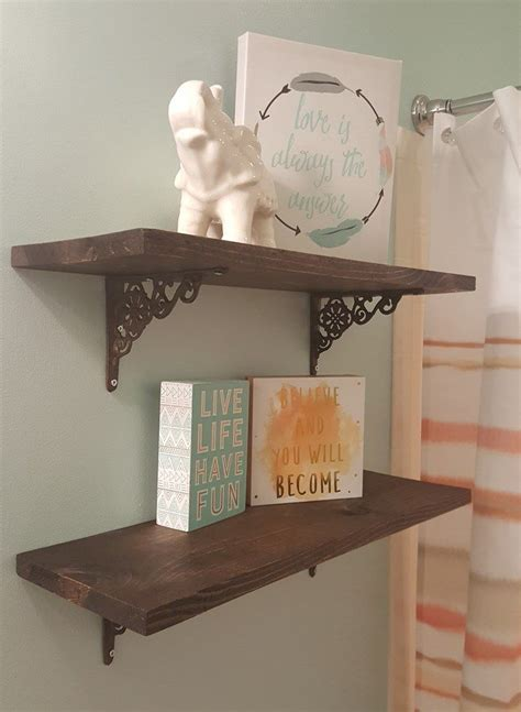25 best ideas about rustic shelves on