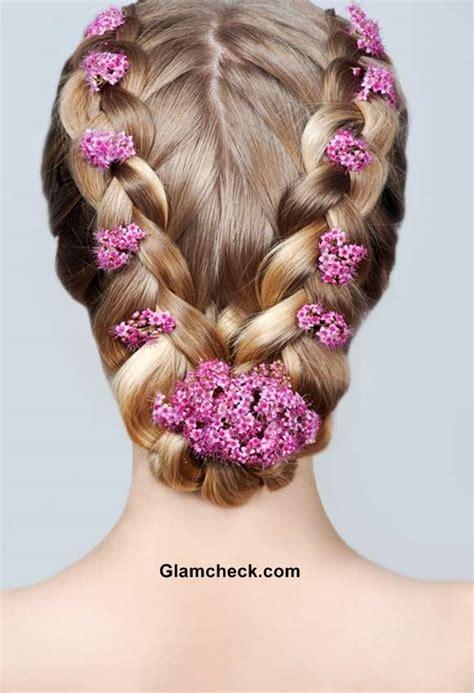 row dutch braids  bun hairstyle