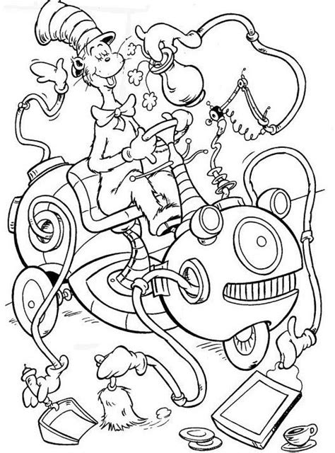 coloring pages cat in hat cat in the hat coloring page coloring home