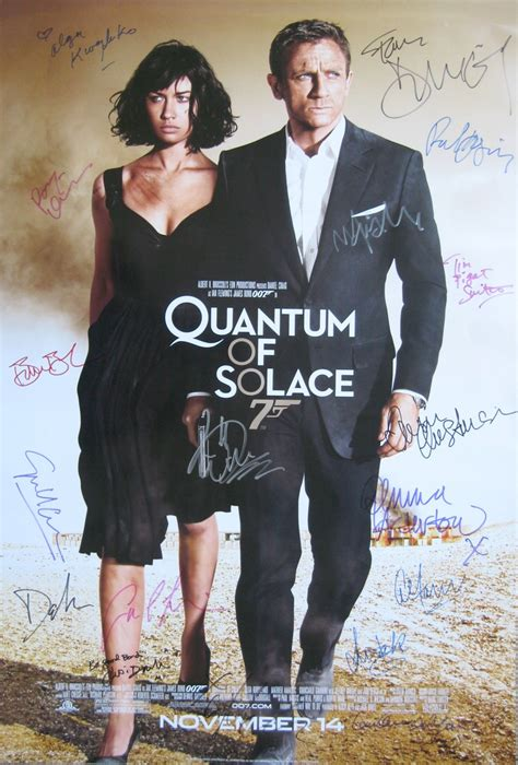 quantum of solace film s prevodom online 230 best images about autographed movie posters signed by