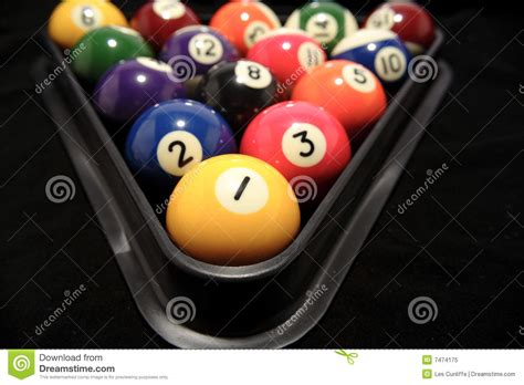 How Do U Rack Pool Balls by Billiard Balls In Rack Royalty Free Stock Photo Image