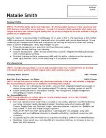 Brand Marketing Manager Sle Resume by Sle Brand Marketing Resume