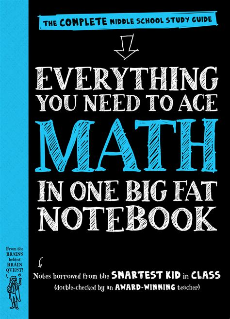 Everything You Need big notebooks five study guides for middle schoolers