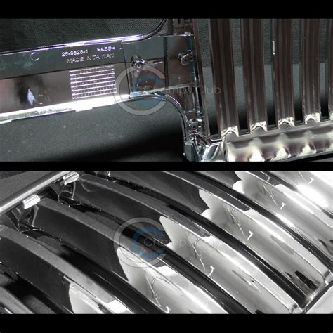 chrome vertical front grill grille 1999 2005 chevy silverado tahoe suburban ebay