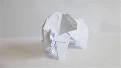 White Elephant Origami - easy origami elephant 折り紙 折り方 ゾウ doovi