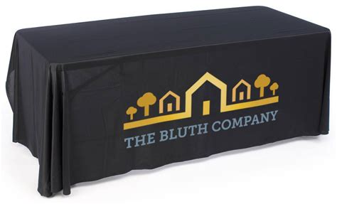 exhibit table covers with logo custom logo tablecloths for exhibition use with custom logo