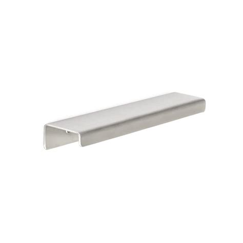 finger pull cabinet hardware richelieu hardware contemporary 3 5 32 in 80 mm