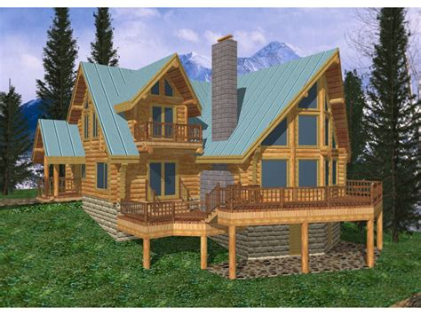 freeland creek a frame log home plan 088d 0002 house