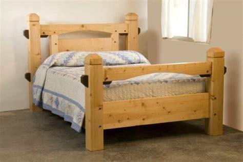 Timber Frame Bed Tamarack Special Timber Bed Tamarack Timber Works St Ignatius Mt