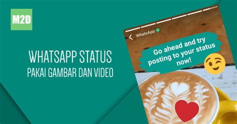 membuat status whatsapp  foto  video