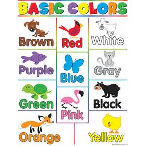 color for toddlers basic colors chart kool child