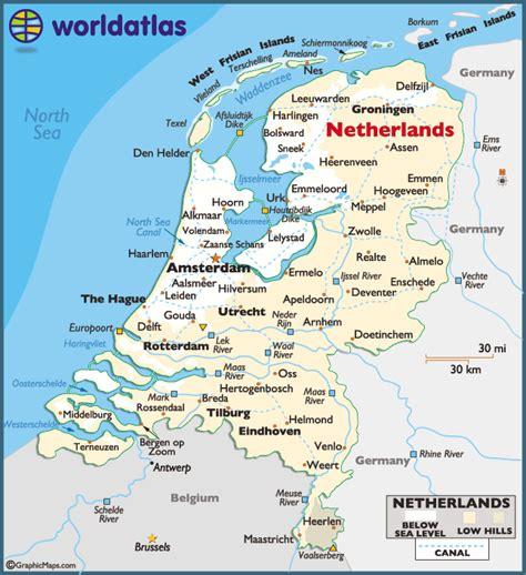 netherlands large color map