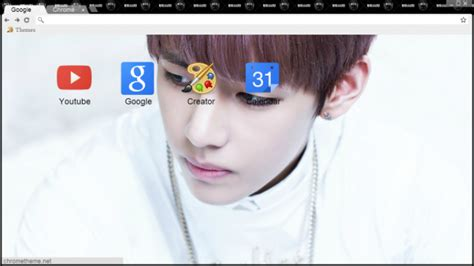 theme google chrome super junior google chrome themes kpop bts v bts chrome theme themebeta