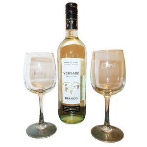 personalised wine glass gift set look again