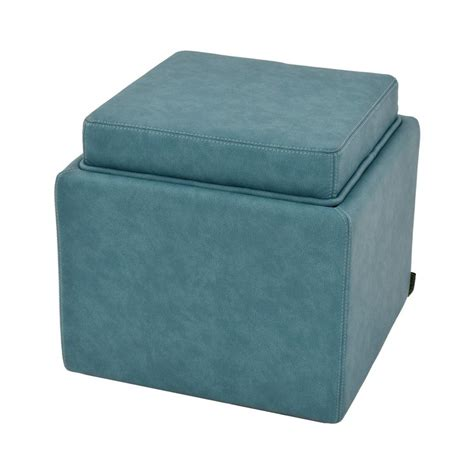 Teal Storage Ottoman Bucky Teal Ottoman W Storage El Dorado Furniture