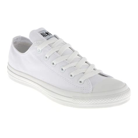 Converse All Low White converse chuck all ox low white mono canvas exclusive trainer shoes ebay
