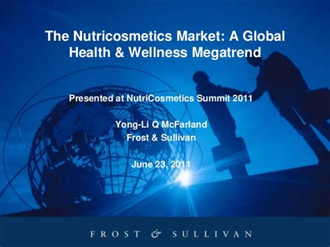 Technology In Global Health Presented By Vipan Nikore Md Mba by The Nutricosmetics Market A Global Health Wellness