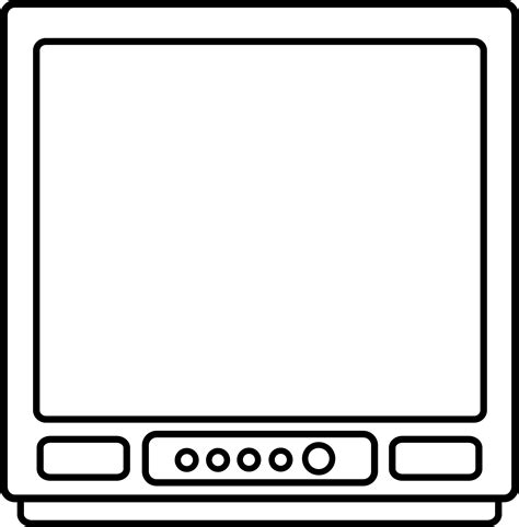television line art free clip art