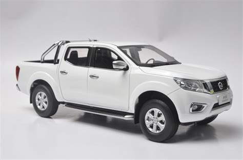 white nissan truck nissan navara pickup truck model in scale 1 18 white cad