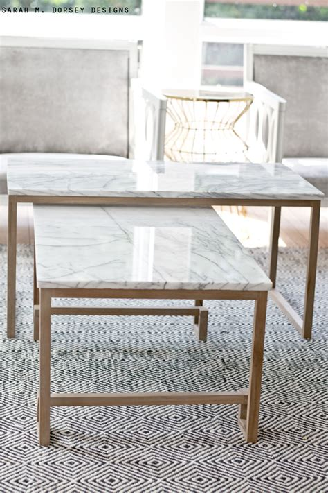 marble top nesting tables m dorsey designs marble nesting tables for the