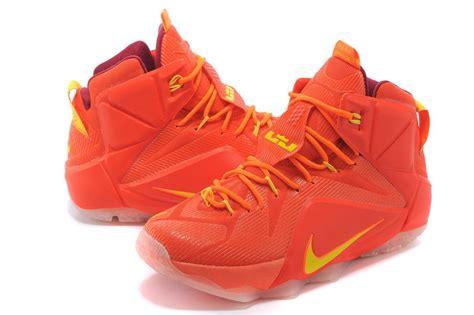 lebron basketball shoes on sale cheap nike lebron 12 yellow basketball shoes on