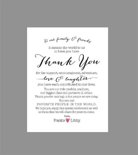 wedding thank you card templates wording 70 thank you card designs free premium templates