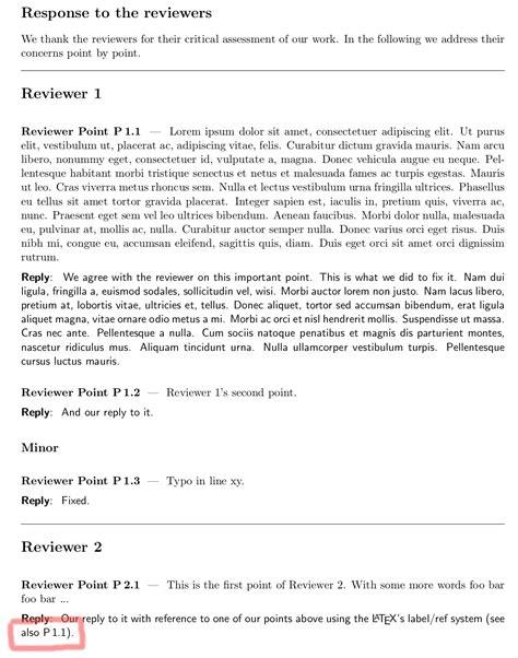 Latex Rebuttal Response To Reviewers Template Friedemann Zenke Fzenke Net Response Template