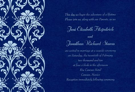 Wedding Invitation Cards Blank Templates Royal Marathi Various Invitation Card Design Blank Invitation Cards Templates Blue