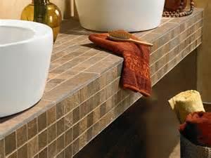 Tile Bathroom Countertop Ideas Counter Tops Thelivedinroom