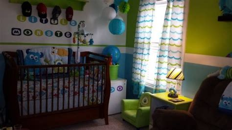 Monsters Inc Nursery Decor Kruzs Room Monsters Inc Themed Nursery Nurseries Design Kid Rooms Pinterest