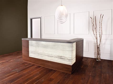 Reception Desk Materials Onyx Onyx Vein Cut Steel Materials 3form