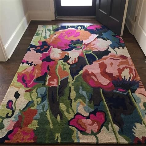 Anthropologie Kitchen Rug Chain Stitched Poppies Rug Anthropologie Myanthrophoto Decoration For House