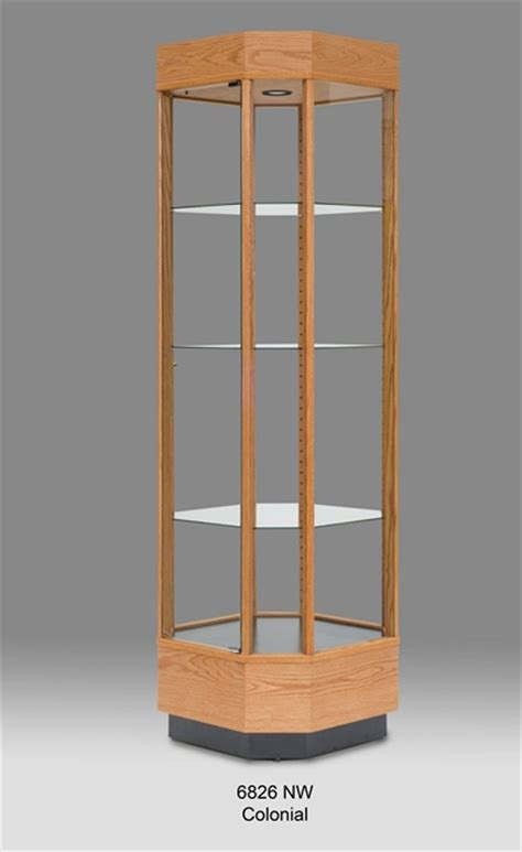 wood glass wood display cabinet tower display cases