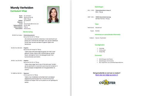 Cv Leerkracht Basisonderwijs Voorbeeld Cv Voorbeeld 2018 voorbeeld cv onderwijsassistent gratis downloaden in word