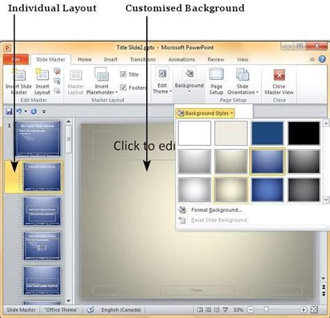 using slide master in powerpoint 2010 the highest