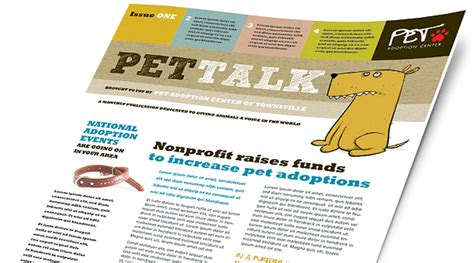 pets animals brochures flyers word publisher templates