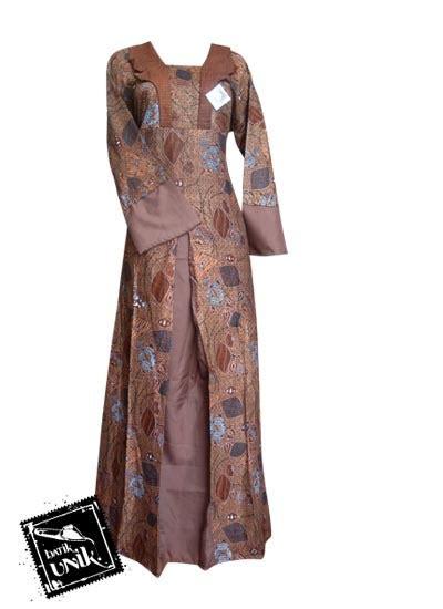 Gamis Motif Wanita Putih baju batik gamis motif kutut manggung gamis batik murah