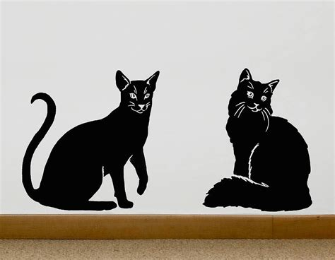 cat wall sticker bathroom wall decorations boy wall decals