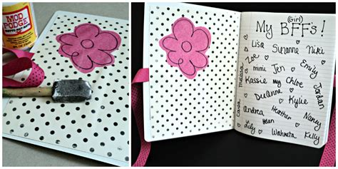how to your to inside mod podge up some friendship journals